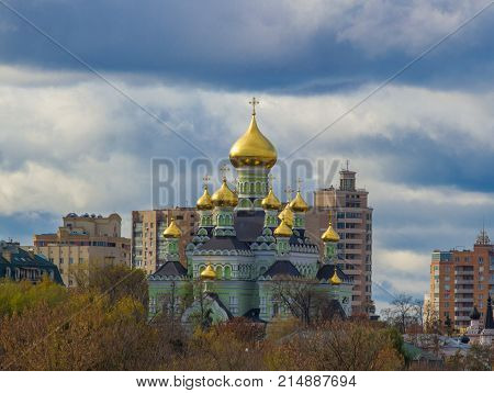 The Orthodox Church in Ukraine. Pokrovsky monastery in Kyiv. Kiev-Pokrovsky Monastery, the Monastery of the Intercession of the Mother of God
