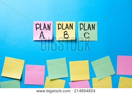 Plan a b c on office stickers and blank office stickers