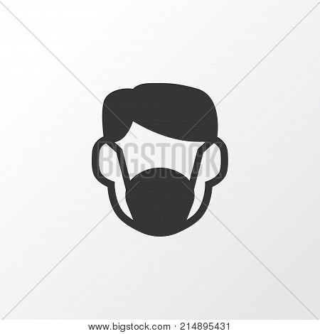 Dust Mask Icon Symbol. Premium Quality Isolated Respirator Element In Trendy Style.