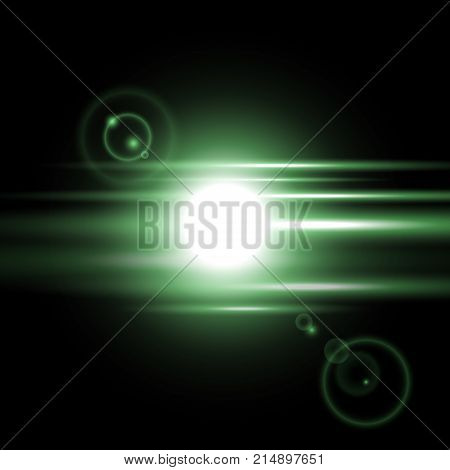 Sunrise Light Effect, Green Color