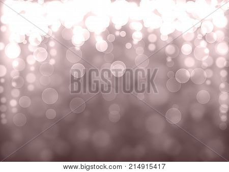 Silver And Burgundy Bokeh Background