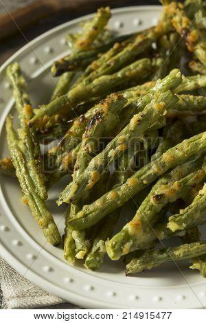 Homemade Baked Parmesan Green Bean Fries