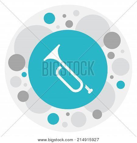 Vector Illustration Of Science Symbol On Trumpet Icon