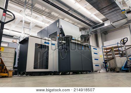 Intaglio Gravure Printer Equipment Paper Rolls Industrial Machine Print Material Nobody