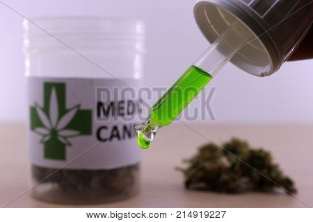 Green cannabis oil to soothe muscle aches