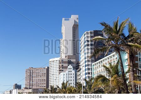 Buildings And Palm Trees On Golden Mile Beachfront