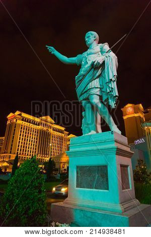 Las Vegas, United States of America - May 07, 2016: The Caesars Palace hotel on May 07, 2016 in Las Vegas. Caesars Palace is a luxury hotel and casino located on the Las Vegas Strip. Caesars has 3, 348 rooms in five towers