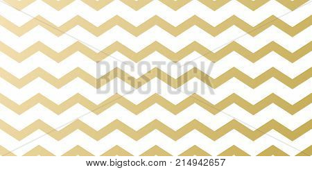 Christmas holiday golden pattern background template for greeting card design. Vector gold zigzag wavy stripe abstract pattern for Christmas, New Year winter holiday wrapper seamless white background