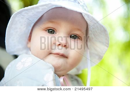 Baby In Panama Hat
