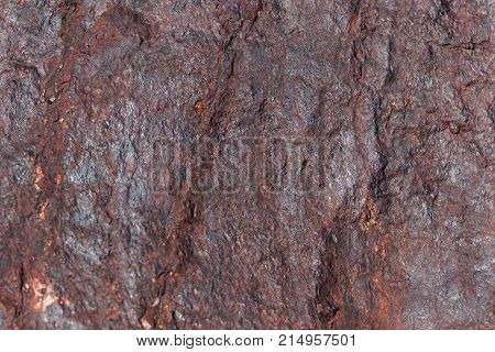 Surface Of Sandstone Covered By Iron Oxides