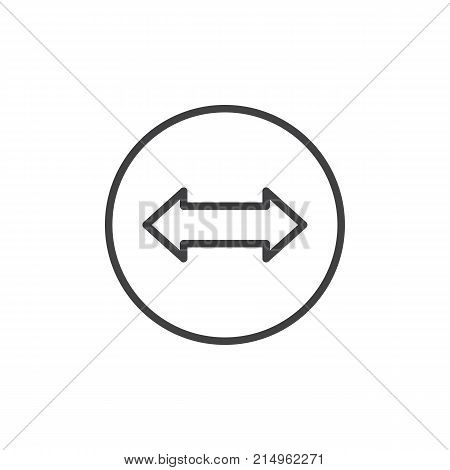 Left Right Arrow Line Vector Photo Free Trial Bigstock