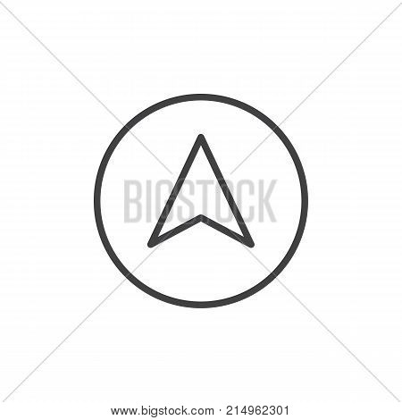 Navigation arrow line icon, outline vector sign, linear style pictogram isolated on white. Cursor symbol, logo illustration. Editable stroke