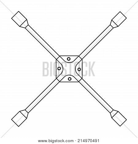 Wrench for wheel single icon in outline style for design.Car maintenance station vector symbol stock illustration .