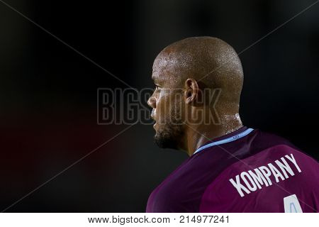 LOS ANGELES, CA - JULY 26: Vincent Kompany during the 2017 International Champions Cup game between Manchester City and Real Madrid on July 26th 2017 at the Los Angeles Memorial Coliseum.