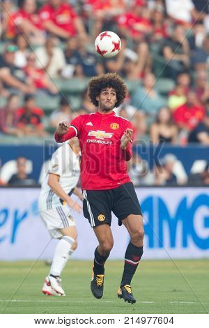 CARSON, CA - JULY 15: Marouane Fellaini during Manchester United's summer tour friendly against the L.A. Galaxy on July 15th 2017 at the StubHub Center.