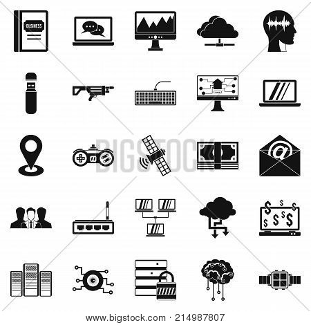 Modern entertainment icons set. Simple set of 25 modern entertainment vector icons for web isolated on white background