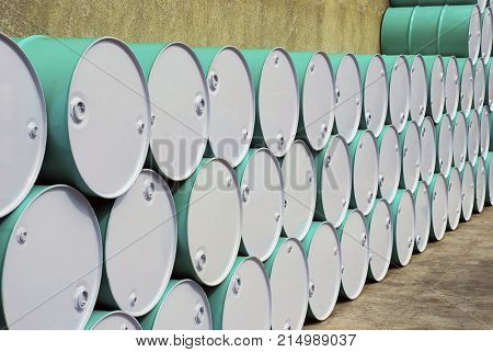 Barrel of oil deposit