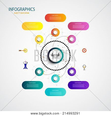 Infographic element template digital and engineering telecoms 6 step Used for your business timelinebook covertemplatebannerdiagram presentation flowchartstepsparts workflow layoutchart