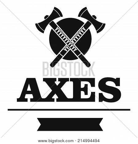Axe logo vector