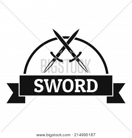 Sword warrior logo. Simple illustration of sword warrior vector logo for web