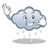 Call me rain cloud character cartoon vector illustration poster