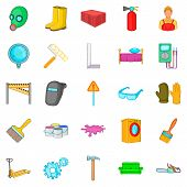Own accommodation icons set. Cartoon set of 25 own accommodation vector icons for web isolated on white background poster