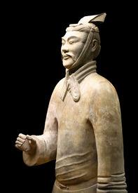 Xian China: Terracotta Warrior Statue (Archer)