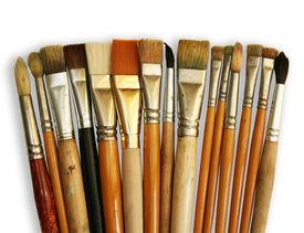 Brushes isolated on white