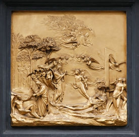 Adam and Eve by Ghiberti. Detail of the panel on the doors (