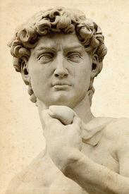 Michelangelo's David in Florence (Italia)