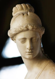 Roman portrait of beautiful woman from the Bargello Palace in Florence (Italy)