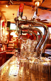 Stainless steel beer taps