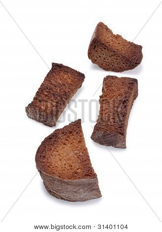Few Toasted Bread Rusks