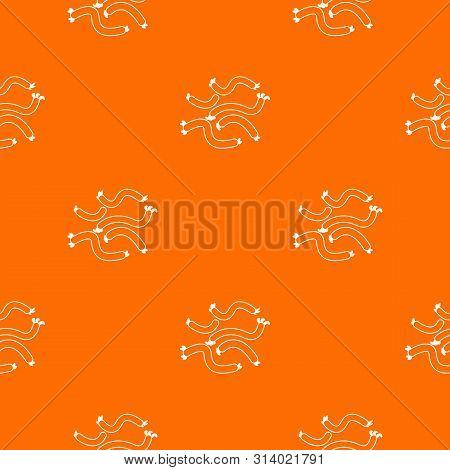 Escherichia Coli Virus Pattern Vector Orange For Any Web Design Best