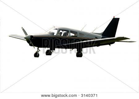 Single Engine Grounded Isolated Black Plane