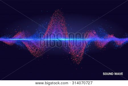 Concept Sound. Abstract Colorful Wave Element For Music Design With Equalizer. The Dynamic Line On A