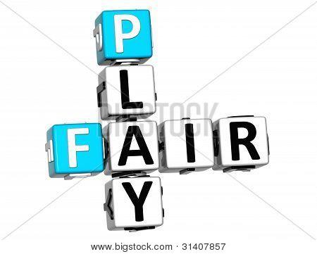 3D Fair Play Crossword Text