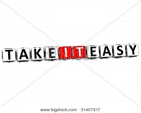 3D Take It Easy Cube Text