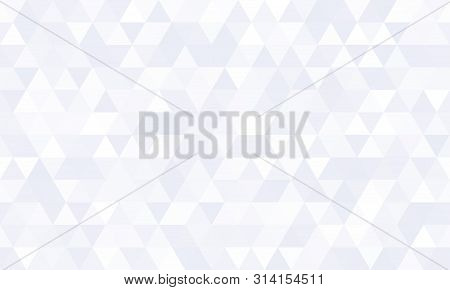 Abstract Geometric Pattern Background, White Polygon Mosaic Shape Vector Design. Modern Gray Minimal
