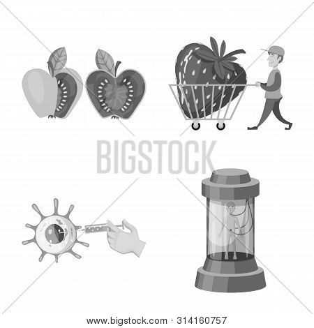 Vector Design Of Transgenic And Organic Icon. Set Of Transgenic And Synthetic Stock Vector Illustrat