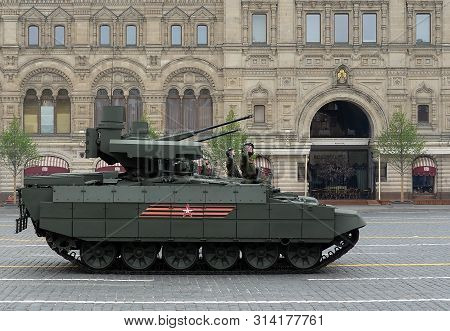 Moscow, Russia - May 9, 2019:russian Tank Support Vehicle Bmpt
