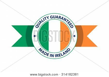 Made In Ireland Quality Stamp. Vector Illustration. Dublin