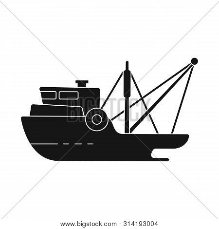 Vector Design Of Ship And Travel Logo. Set Of Ship And Naval Stock Symbol For Web.
