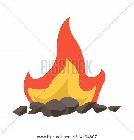 Vector Design Of Blaze And Fiery Logo. Set Of Blaze And Firewood Stock Vector Illustration.