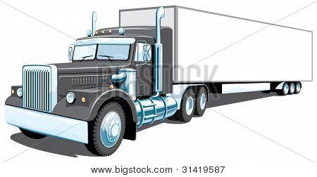 Black semi truck (My design)