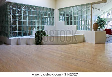 Glass foyer in luxury home