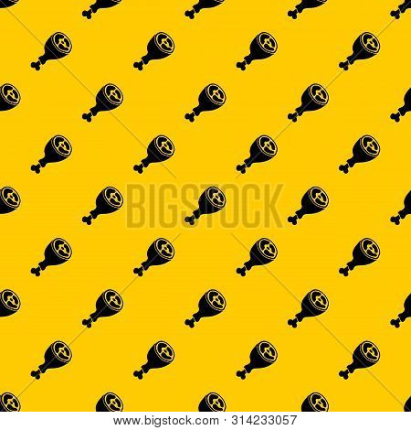 Piece Of Meat Pattern Seamless Vector Repeat Geometric Yellow For Any Design
