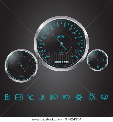 Vector Realistic Car's Dashboard