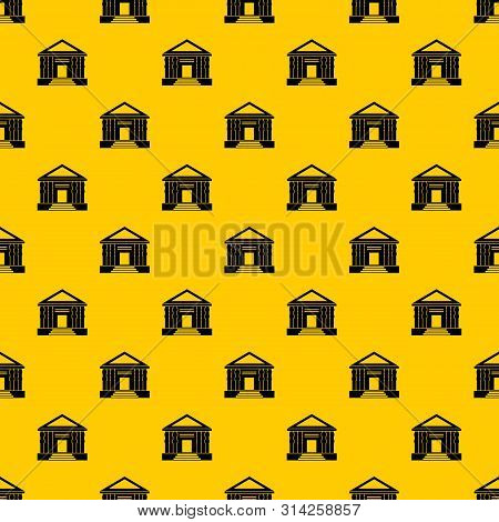 Colonnade Pattern Seamless Vector Repeat Geometric Yellow For Any Design