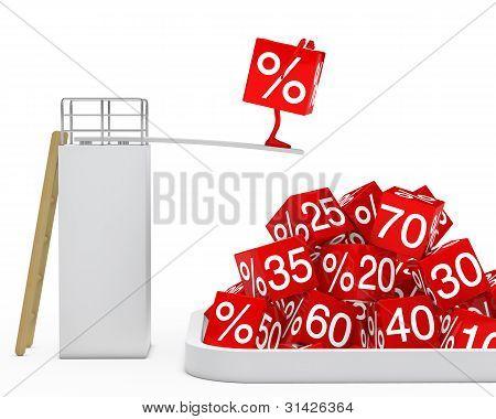 Sale Cube Figure Jump